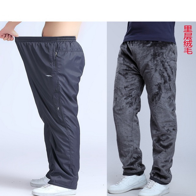 Grandwish Men's Winter Pants Big size Wool Inside Winter Warm Men Thick Pants Plus size 6XL Mens Fleece Pants Trousers,PA782 Others Men's Fashion