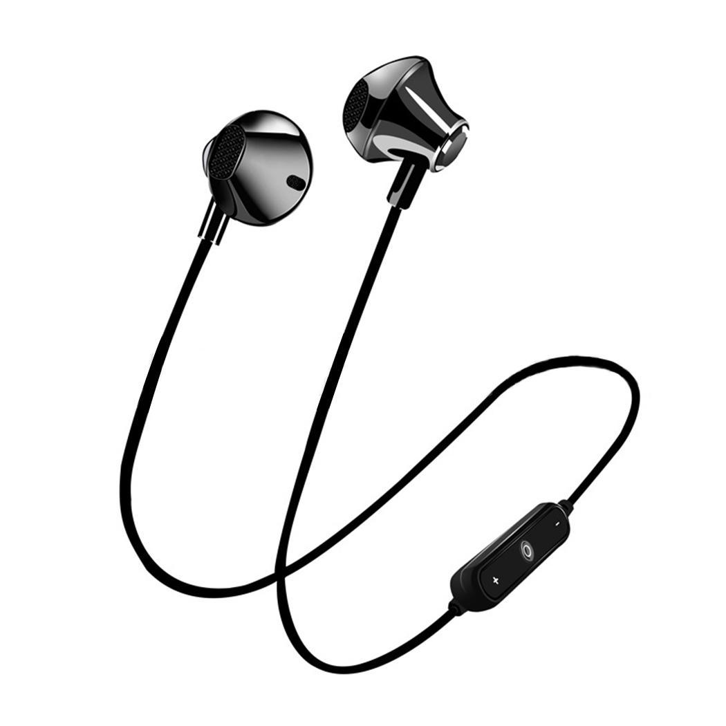 Comfortable Headset Wireless Earphone Headphone Bluetooth Earpiece Sport Running Stereo Earbuds with Microphone for Smartphone