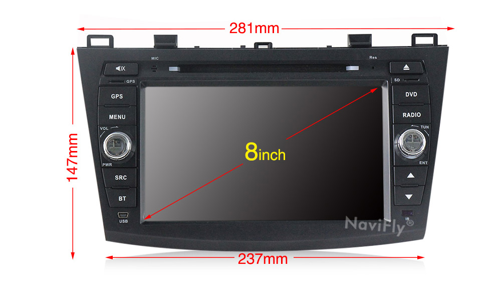 Clearance Android 9.1 Car Radio Multimedia for Mazda 3 Mazda 3 maxx Axela 2010-2013 2din car dvd gps navigation player headunit 7