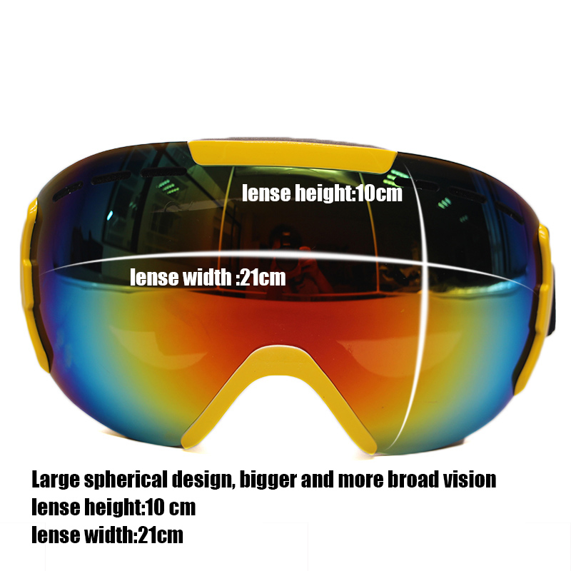 84f6d6c073 Double Layer ski goggles women Large Spherical 100% UV protection Anti Fog  snowboard goggles Super snow goggles men-in Skiing Eyewear from Sports ...