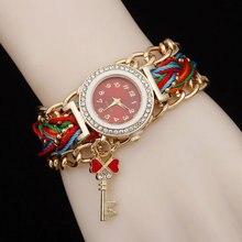 Girl Jewelry Watch Handmade Braided Bracelet Watch