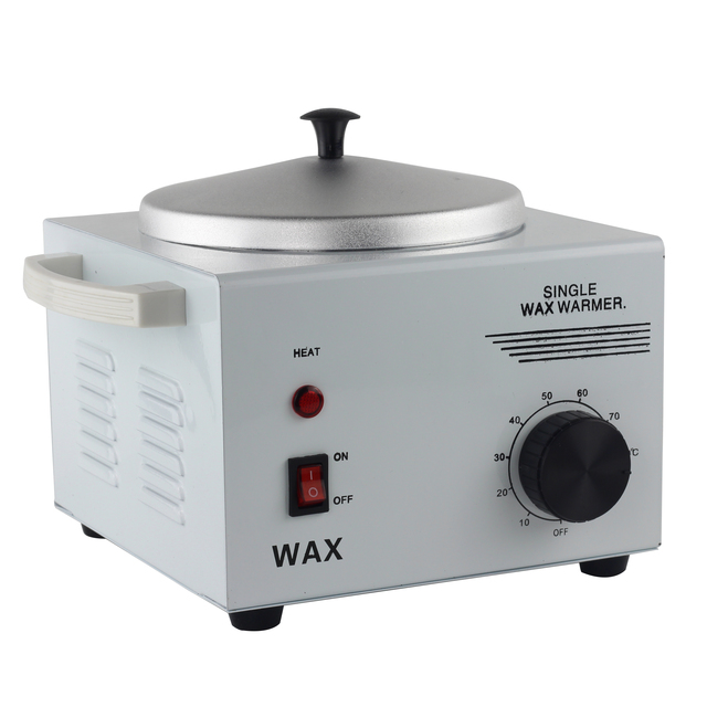 Adjustable temperature Single Chamber Waxer Wax Warmer Heater Hair Removal Arms, bikini depilation Depilatory metal shell 220V