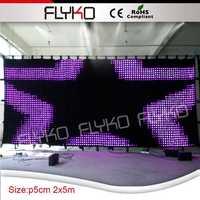 fiber optic light decorative led vision curtain for stage DMX led video curtain led curtain
