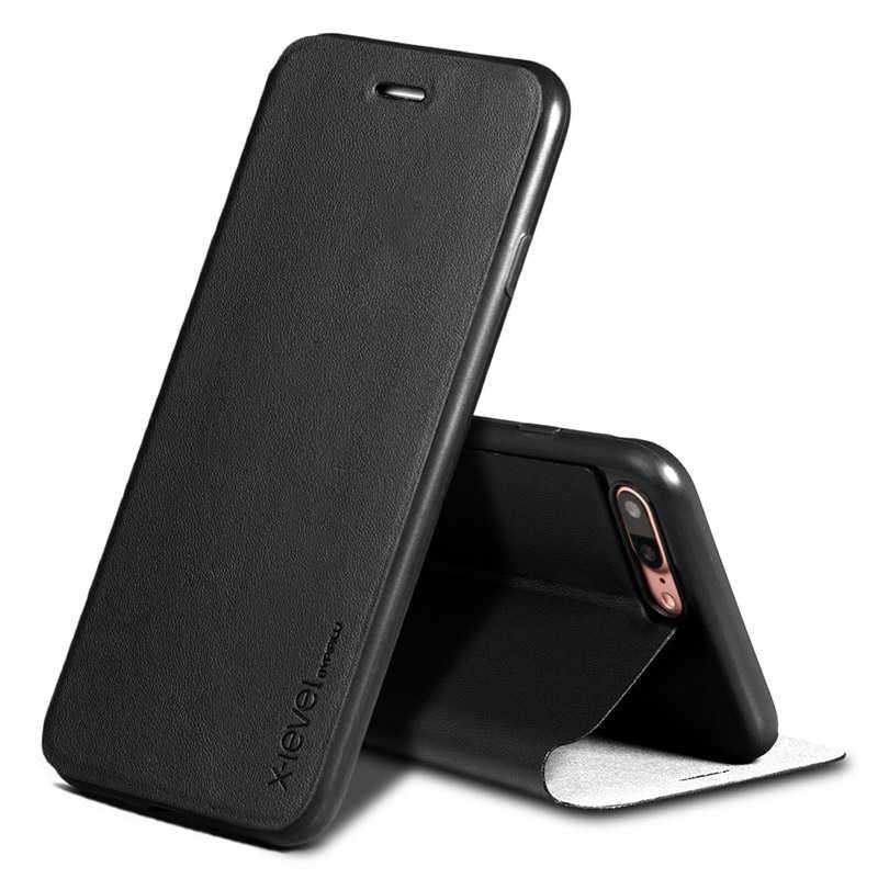 X-Level ซองหนังสำหรับ Apple New iPhone 11 Pro Max XS Max XR X 8 8 SE 5S 6 6S 7 Plus Ultra บางกรณีปกหนังสือ