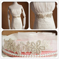 High Quality Handmade Dazzling Glass Crystal Rhinestone Czech Stones Bridal Belt with Crystals for Wedding Dress Wedding Belt