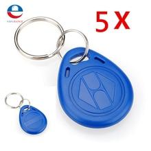 New Arrival 5pcs 125kHz RFID Proximity ID Token Tag Key Keyfobs Keychain Chain Plastic  For Access System
