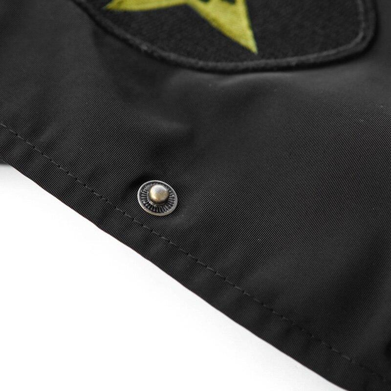 Doble títere chaquetas abrigos mujer 2017 primavera nuevas letras de bordado flo