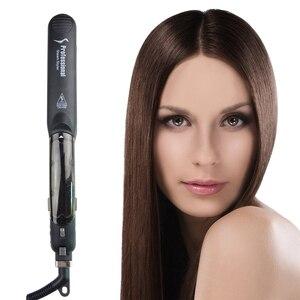 Image 3 - Funkcja parowa prostownica turmalin ceramiczne pary profesjonalna prostownica do włosów z oleju arganowego infuzji prostownice