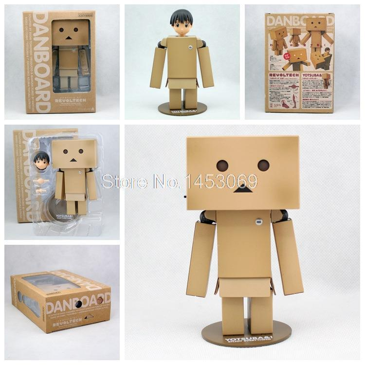 Lovely Danboard Danbo Doll PVC Action Figure Toy with LED light 13cm Collection Model OF092 cute lovely danboard danbo doll pvc action figure toy with led light 13cm
