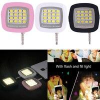 16pcs LED Mini Flash Fill Light For Mobile Phone Selfie Brightness Photography Lamp 3.5mm Bright LED Video Light Lamp