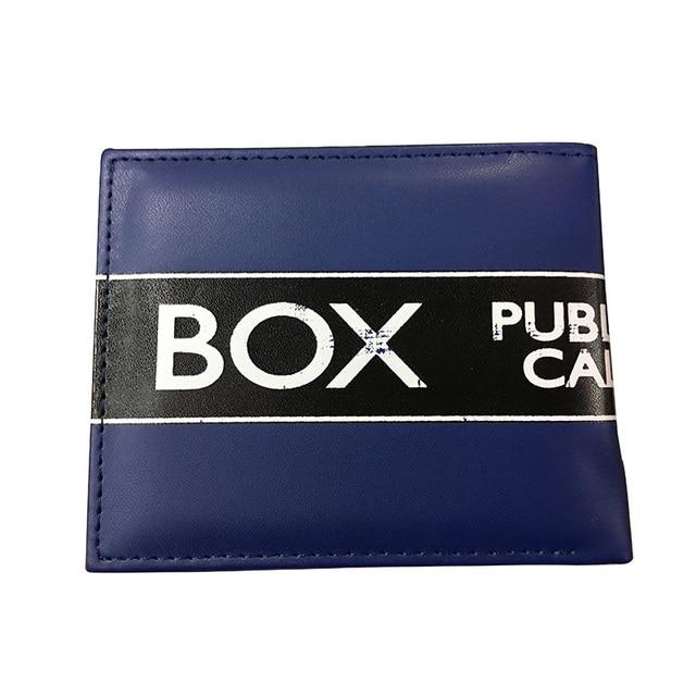 Comics DC Marvel luxe portefeuille hommes bleu sac à main carte sac Dollar portefeuilles le docteur qui Tardis docteur qui Karte Police boîte carteira