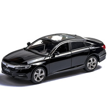 1:32 Alloy Honda Accord Car Model Pull Back Diecast Car Model, Sound Light MINIAUTO Toy Vehicles for Children's Gifts Formula цена и фото