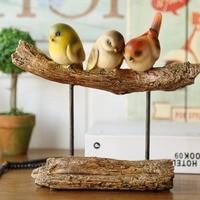 Пасторальный стиль Xuan Guan Смола птицы украшения ремесла офисные настольные Статуэтка на удачу статуэтки для свадебных подарков миниатюрные