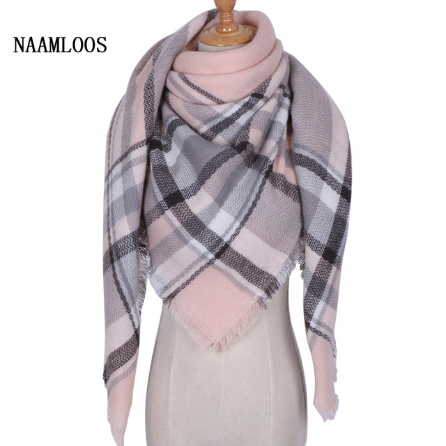 886f745b89dc 2018 Fashion Luxury Brand Designer Square Women Scarf Winter Cashmere  Thickened Shawls and Wraps Plaid Blankets Dropshipping