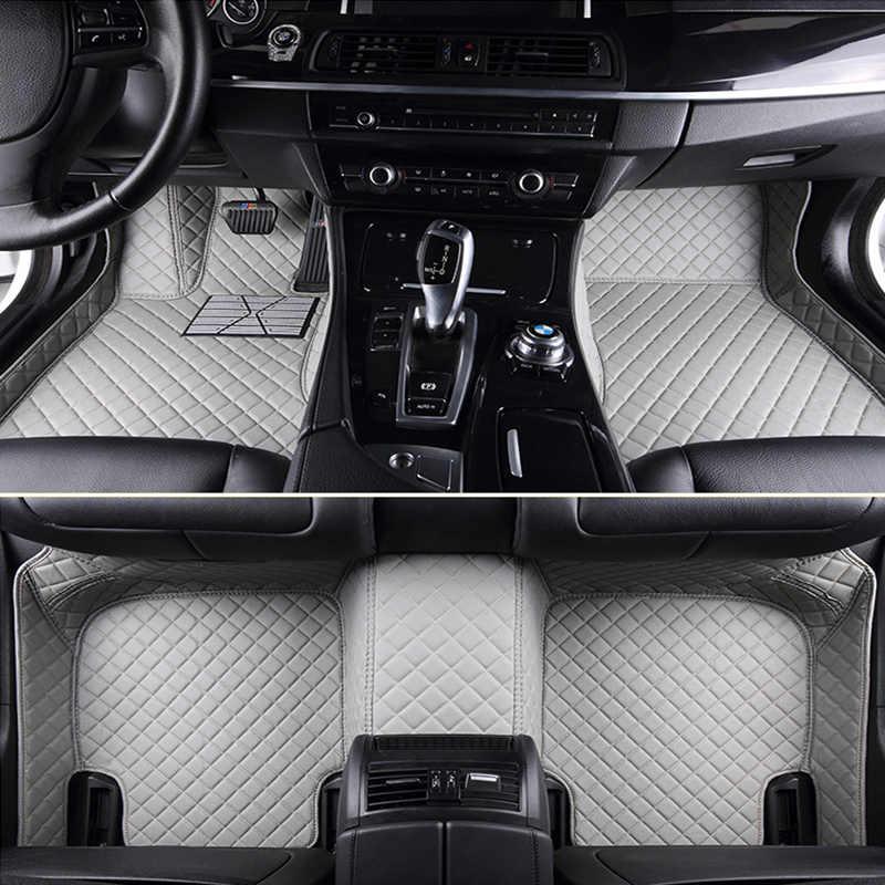 Kustom Lantai Mobil Tikar untuk Fiat Semua Model Ottimo 500 Panda Punto LINEA Sedici Viaggio Bravo Freemont Mobil Styling Lantai mat