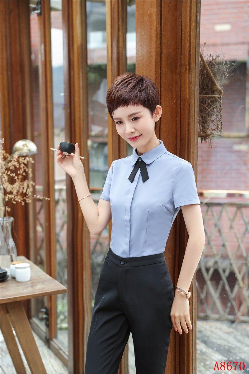 Y Unidades Trabajo Con Top Sets Blusas Oficina Pantalón Mujeres Camisas Trajes Pantalones 2 Mujer Desgaste nwqxEC8EaY