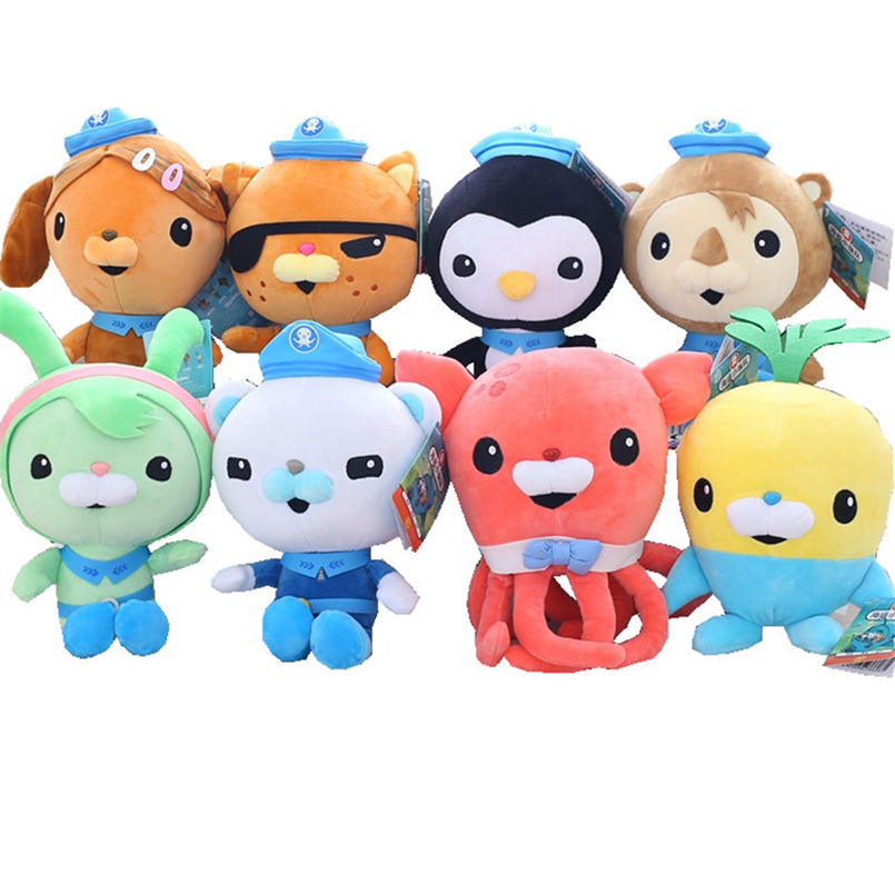 25cm Octonauts Plush Toys Captain Barnacles Kwazii Peso Shellington Dashi Stuffed Toys Dolls Action Figure Soft Kids Toy Gifts все цены
