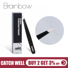 Hair-Removal-Tool Eyebrow-Tweezer Brainbow Extension Eyelashes Application Make-Up Black