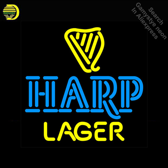 Har Lager Beer Pub Neon Sign neon Light Sign galss tubes Commercial Recreation Rooms Bar Pub Neon signs for sale Dropshipping