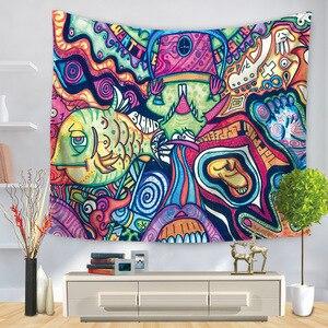 Image 3 - Hongbo Hippie Mandala Modello Arazzo Pittura Astratta di Arte Della Parete Hanging Coperta Soggiorno Decor Mestieri Multifunzione Zerbino