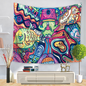 Image 3 - Hongbo Hippie Mandala Pattern Tapestry Abstract Painting Art Wall Hanging Blanket Livingroom Decor Crafts Multifunction Mat