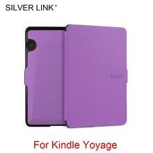 Серебряная Ссылка Kindle Voyage UP Чехол из искусственной кожи многоцветный чехол для Kindle Auto Sleep/Wakeup защитная оболочка