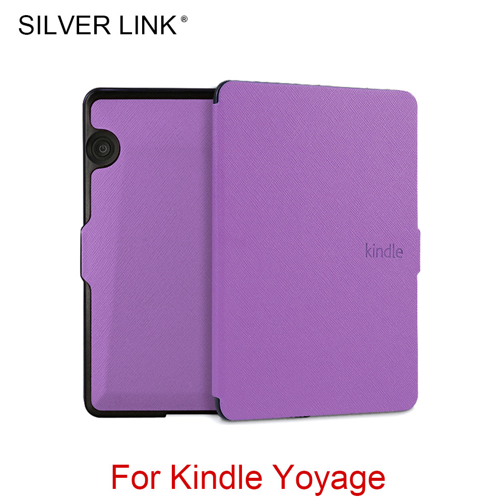 SILVER LINK Kindle Voyage UP Case Faux Leather Skin Multicolor Cover For Kindle Auto Sleep/Wakeup Protector Shell обложка для электронной книги tecodes kindle voyage kindle voyage voyage