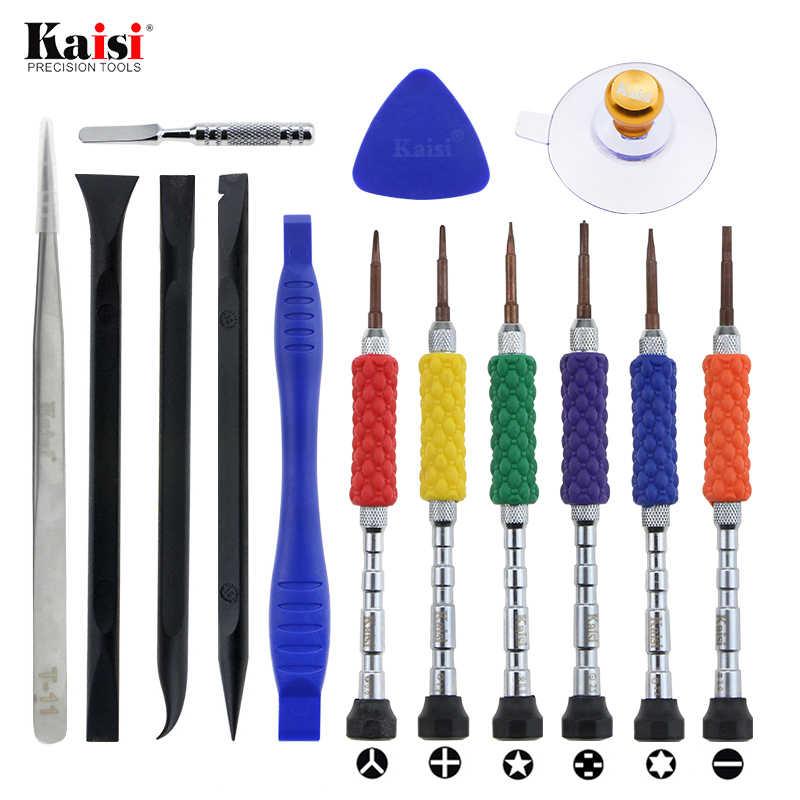 Juego de destornilladores multifuncionales kaisi, pinzas de succión Spudger, abridor triangular para iPhoneX 8 7, Kit de herramienta de reparación de apertura