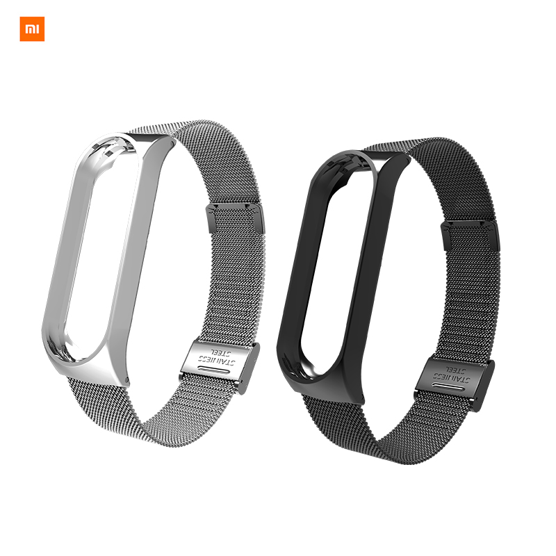 In Stock New Xiaomi Band 3 Milano Buckle Strap Bracelet Sport Strap Watch For Xiaomi Mi Band 3 Accessories Strap Bracelet Band3 new in stock mi 25l ix