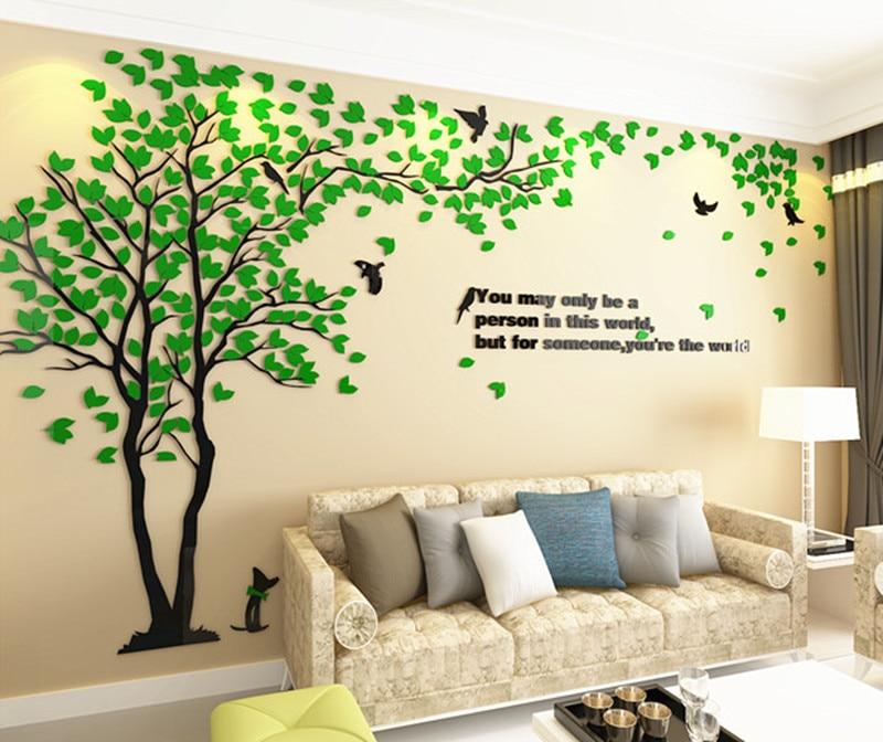 3D cieta akrila sienas uzlīmes viesistabas dīvāns TV fona sienas - Mājas dekors - Foto 4