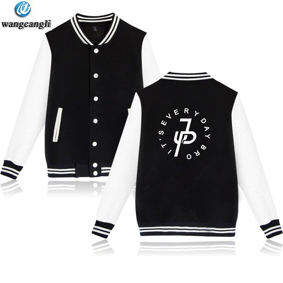 New Jake Paul Baseball Jacket 2018 Fashion Design Mens Slim Fit College Varsity Jackets Brand Stylish Sweatshirt Veste Homme