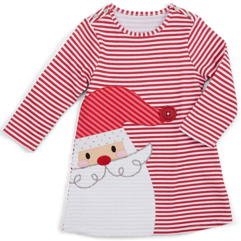 New-Christmas-dress-for-girls-cotton-Striped-Long-sleeve-vestidos-Baby-girl-clothes-princess-dress-Father-Christmas-Girl-Dress-2