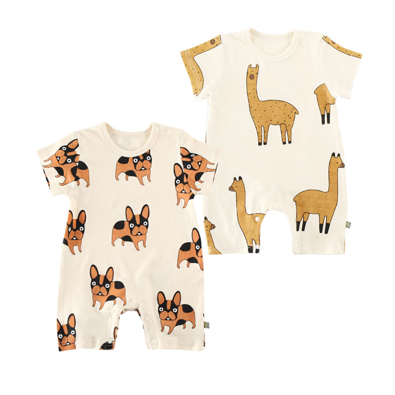 New Baby Boy Girl Romper Cute Animal Clothes Playsuit Adorable Baby Short Sleeve Cartoon Roupas De Bebes Lovely Infant Outfits
