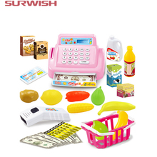 Surwish Kids House Toy Mini Store Shop Cash Register Kit Toy Pretend & Play Playset As New Year Christmas Gift