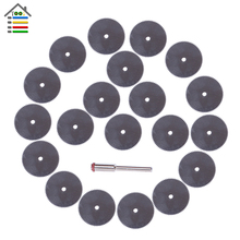 22mm 25mm Thin Steel Wood Cutting Disc Wheel Saw Blades Rotary Toolsl Craft Tool with 1 Mandrel For Dremel 4000 3000