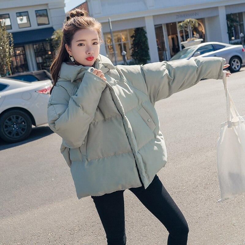 De girl Powder D'hiver Courte Lâche Épais Vêtements Nouvelle Veste Mode Pain En Mint Coton Manteau Green Bf Plume Femmes UxIqT