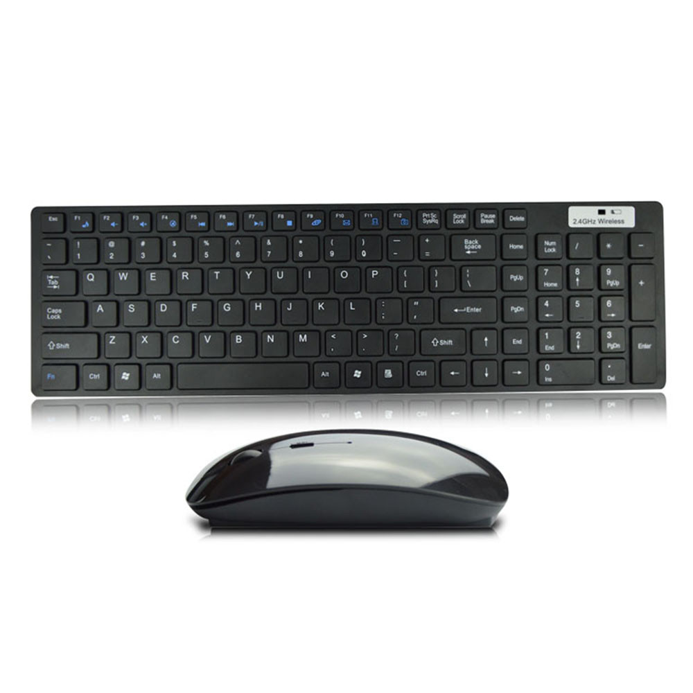 VOBERRY 2.4G White Wireless Keyboard Mouse Set Backlit USB Ultra Thin High-quality Keyboard Optical Mouse Combo For PC Loptop