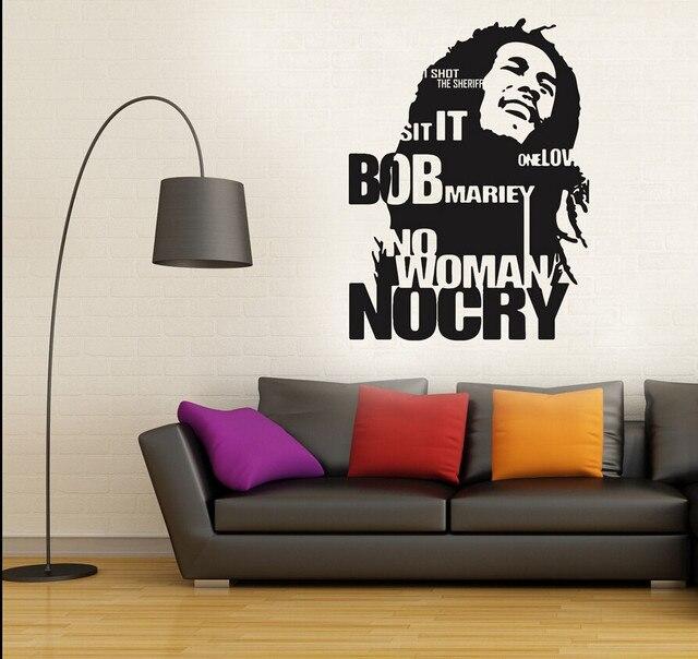 bob marley jamaica reggae artistic avatar vinyl wall decal quotes