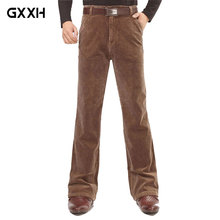 Мужские Микро-колокольчики свободные секции динамик повседневные брюки вельветовые длинные брюки черные осенние и зимние толстые брюки 36 38