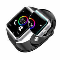 A1 bluetooth relógio de moda relógio inteligente telefone móvel pedômetro e telefone inteligente câmera sim relógio inteligente