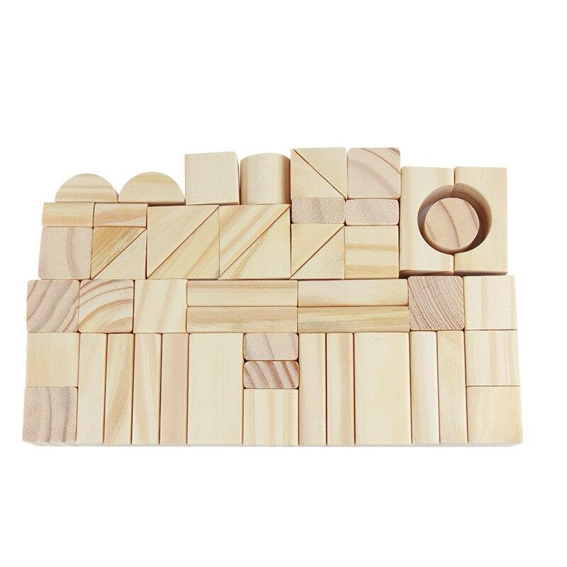 100 pièces bricolage bois construction blocs de bois jouets enfants éducatifs apprentissage famille jeux jouet grognons lumières jouets pour enfants - 4