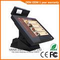 Haina Toque 15 polegada Tela de Toque Sem Fio Terminal Pos/Pos System/Epos com display de Cliente