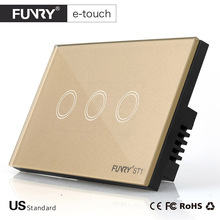 FUNRY ST1-US Standard 3 Gang Remote Switch, Smart Control On-off for Smart Home, Smart Wall Switch,Smart Lamp Switch