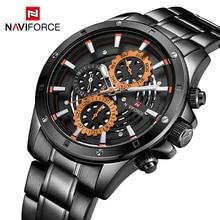 2019 NAVIFROCE גברים אופנה ספורט שעונים גברים קוורץ שעון תאריך 24 שעה עמיד למים Relogio Masculino Erkek kol saati מתנה עבור גברים