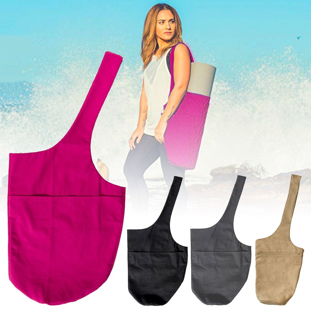 Exercise Yoga Mat Carry Bag with Large Zip Multi-Functional Storage Pockets XR-Hot