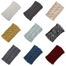 Autumn And Winter Anti-Season Womens Versatile Wool Knit Crochet Twist Hair Band Headband Ear Warmer