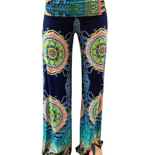 Floral Casual Wide Leg Long Harem Pants High Waist Palazzo Trousers Loose