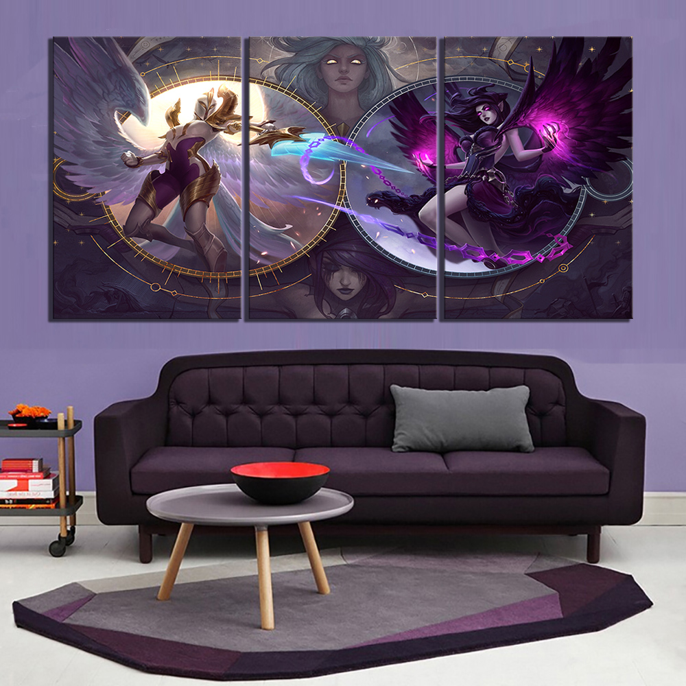 3 Piece LOL Games Art Print Canvas Paintings League of Legends Poster Pictures Decorative Paintings Wall Art for Home Decor 1