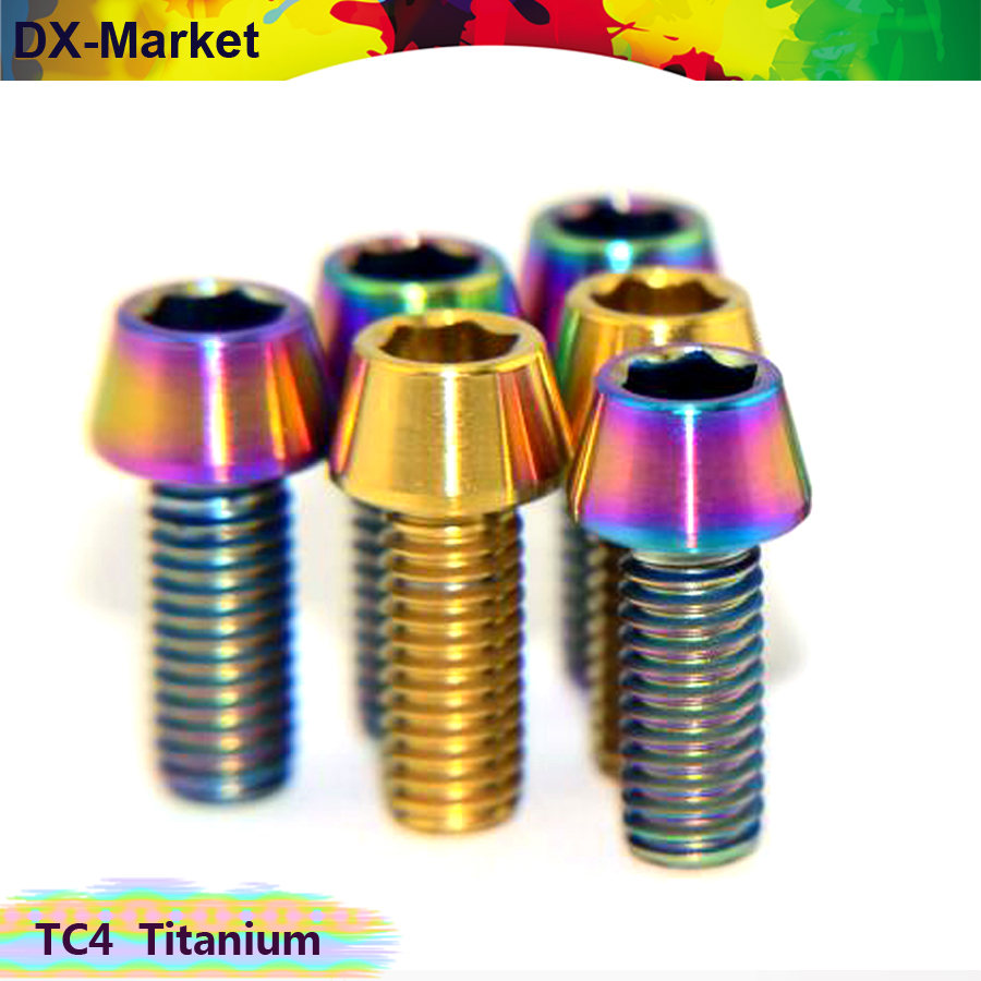 m5 m6 m8 m10 conical head titanium screw ,titanium hex socket head cap screw , gr5 titanium bolt