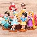 6 pçs/lote Rapunzel Sereia Branca de Neve Cinderela Belle pingente de diamante decorações Decoração enfeites de boneca boneca de brinquedo boneca